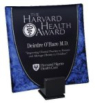 Laserable Glass Tray Blue Artistic Awards