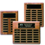 Solid Walnut Perpetual Plaque Employee Awards