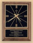 American Walnut Vertical Wall Clock with Square Face. Employee Awards