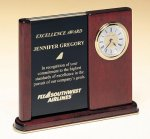 Versatile Clock Rosewood Piano Finish Desk Clock Employee Awards