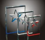 Star Cut-Out Acrylic Award Employee Awards