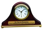 Piano Finish Mantel Desk Clock Employee Awards