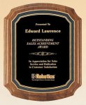 American Walnut Notched Plaque Golf Awards