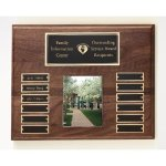 Walnut Perpetual Photo Plaque Golf Awards
