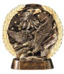 Resin Plate -Eagle On Flag Patriotic Awards