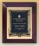 Cherry Finish Wood Frame Plaque with Wreath Patriotic Awards