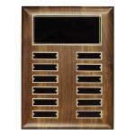 Walnut Perpetual Plaque Patriotic Awards