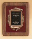 American Walnut Frame with Antique Bronze Casting Religious Awards