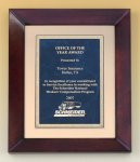 Cherry Finish Wood Frame Plaque Religious Awards