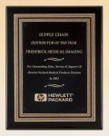 Black Piano Finish Plaque with Gold and Black Embossed Frame Religious Awards